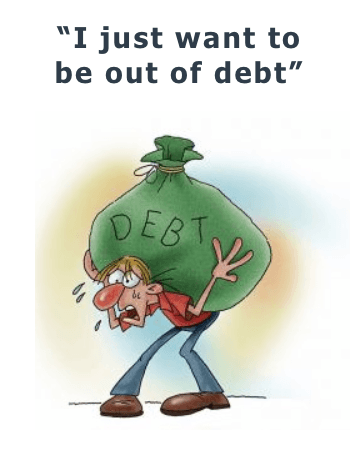 I just want to be out of debt